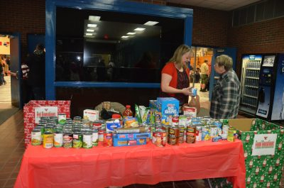 Collecting food at C.I.K