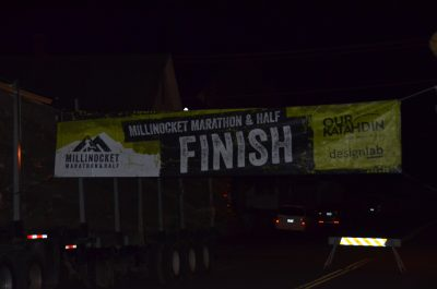 Marathon Finish Line going up