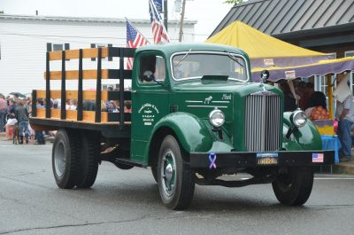 Old Pelletier truck in July 4th parade